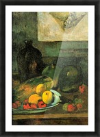 Still Life in Front of a Stich by Gauguin Picture Frame print