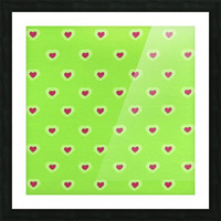 Hearts - Lime - Red Picture Frame print