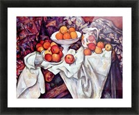Still Life with Apples and Oranges by Cezanne Picture Frame print