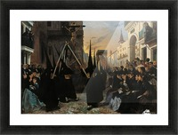 A Confraternity in Procession along Calle Genova Picture Frame print