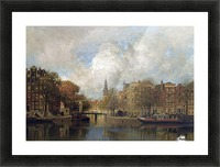 A View of the Groenburgwal with the Zuiderkerk, seen from the River Amstel, Amsterdam Picture Frame print