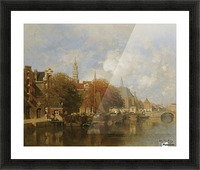 A capriccio view of the Oudezijds Voorburgwal, Amsterdam Picture Frame print