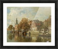 The verdronken oord with the Accijnstoren, Alkmaar Picture Frame print