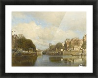 Rotterdam, with the Laurenskerk in the background Picture Frame print