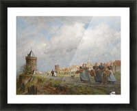 Arnemuiden Fisherwomen returning from the Market in Vlissingen Picture Frame print