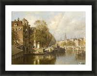 A View on the Amstel, with the Blauwbrug and the Zuiderkerk, Amsterdam Picture Frame print