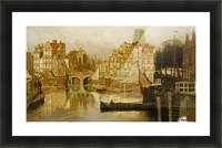 A view of the Blaak Rotterdam Picture Frame print