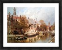 The Oude Kerk and Saint Nicolaaskerk Picture Frame print