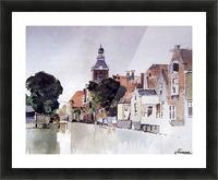 Gracht in Meppel met kerk Picture Frame print