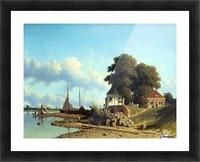 Aan de Lek bij Elshout Picture Frame print