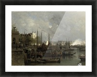 Oude haven with the Koningsbrug Picture Frame print