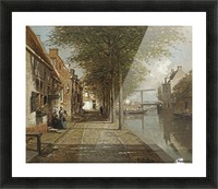 Grachtje te Oudewater Picture Frame print