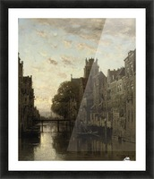 A View of the Voorstraathaven with the Grote Kerk Beyond, Dordrecht Picture Frame print