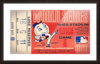 1969 New York Mets Game 5 Ticket Art Picture Frame print