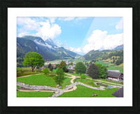 The  Saane valley in Switzerland Surrounded by the Alps Picture Frame print