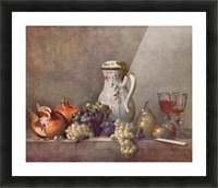 Still life with porcelain jug by Jean Chardin Picture Frame print