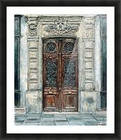 Parisian Door N0. 5-3 Picture Frame print