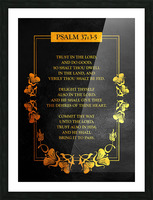 Psalm 37:3- 5 Bible Verse Wall Art Picture Frame print