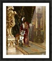 Le Sultan et son Tigre Picture Frame print