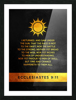 Ecclesiastes 9:11 Bible Verse Wall Art Picture Frame print