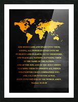Matthew 28:18-20 Bible Verse Wall Art Picture Frame print