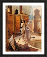 The harem bath Picture Frame print