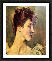 Portrait of Countess de Leusse, detail by Giovanni Boldini Picture Frame print