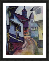 Street with a church in Kandern by Macke Picture Frame print