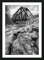 Train Bridge ap 2225 B&W Picture Frame print
