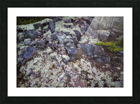 Purple Rocks ap 2289 Picture Frame print