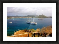 Tall ships at anchor Rodney Bay Landscape Picture Frame print