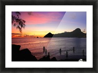 Sunset looking at Pigeon Island Picture Frame print