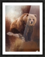Great Strength - Grizzly Bear Art by Jordan Blackstone Picture Frame print