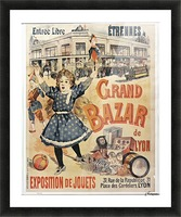 Grand Bazar Picture Frame print