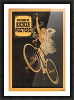 100 years of bicycle posters Picture Frame print