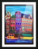 Amsterdam in November Picture Frame print