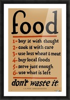 Food Poster Picture Frame print