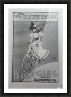 The Crawford Bicycles Picture Frame print