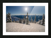 Mid winter blues Picture Frame print