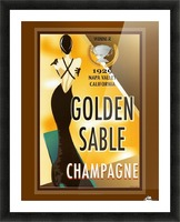 Golden Stable Champagne Picture Frame print