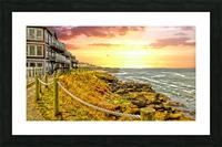 Depoe Bay On the Oregon Coast - Art Style Picture Frame print