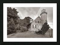 White River Light ap 2449 B&W Picture Frame print
