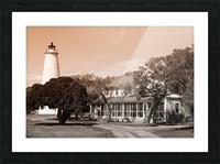 Ocracoke Light ap 1743 B&W Picture Frame print