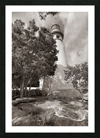 Marblehead Lighthouse ap 2400 B&W Picture Frame print