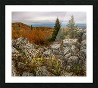 Bear Rocks Overlook apmi 1789 Picture Frame print