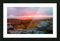 Bear Rocks at Sunrise apmi 1754 Picture Frame print