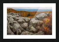 Bear Rocks Overlook apmi 1793 Picture Frame print