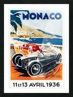 Monaco April 1936 Picture Frame print
