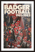 1981 Wisconsin Badgers Football Poster Picture Frame print