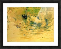 Swans by Morisot Picture Frame print